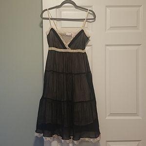 Romantic black and cream dress